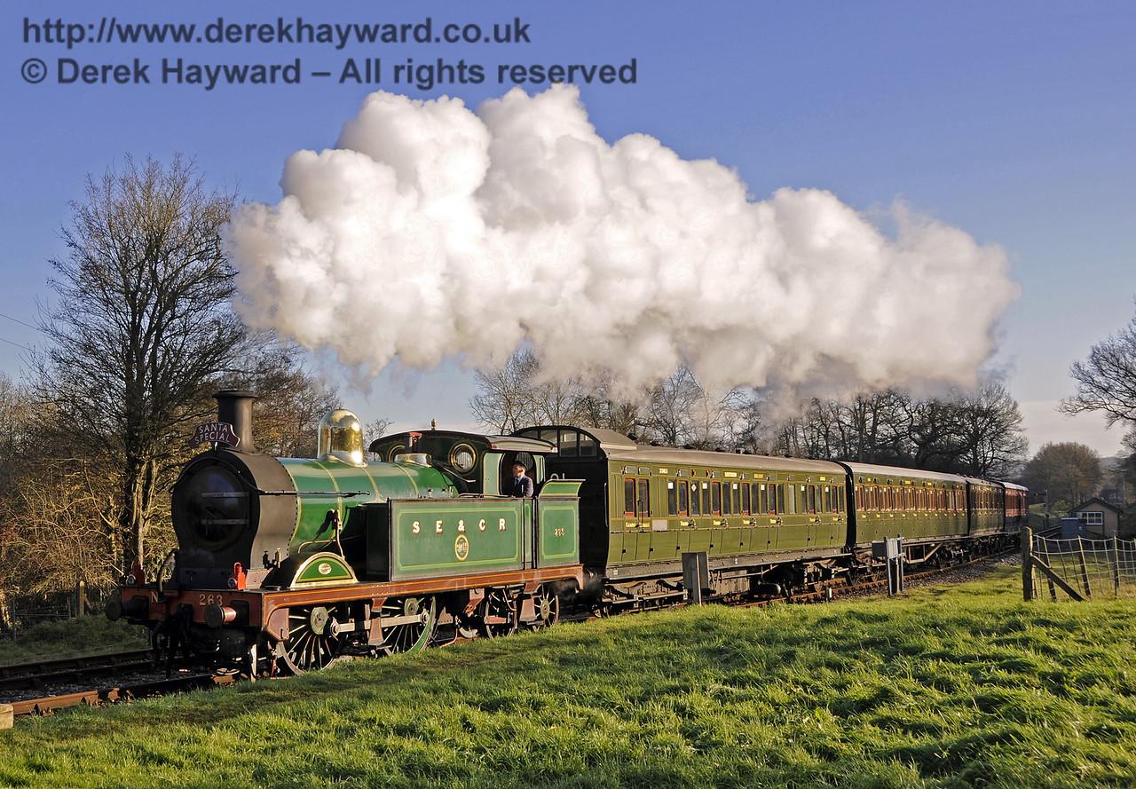 Christmas at the Bluebell Railway.  Kingscote 13.12.2014  11761