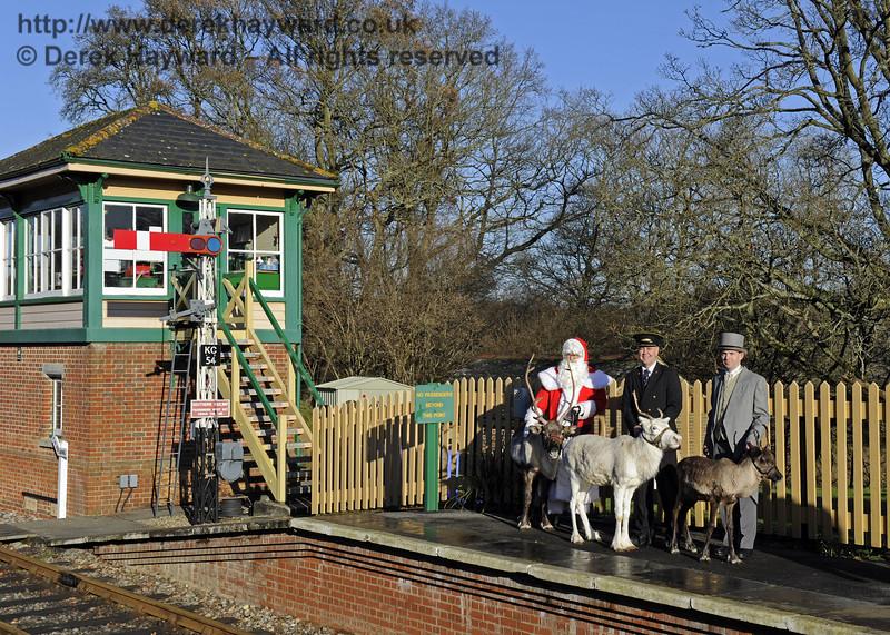 Christmas at the Bluebell Railway.  Kingscote 13.12.2014  10157