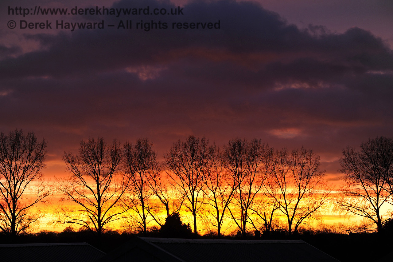 Sunset over Sheffield Park.   Christmas at the Bluebell Railway.  20.12.2014  10334