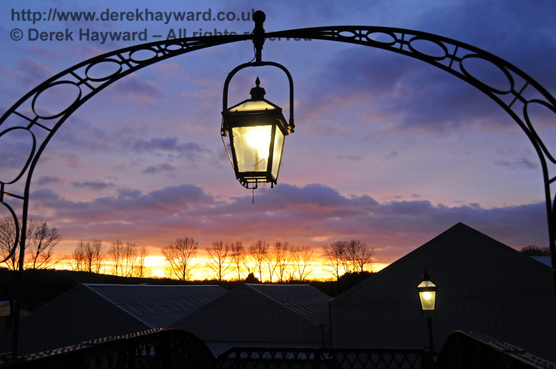 Sunset over Sheffield Park.  Christmas at the Bluebell Railway.  Sheffield Park  20.12.2014  11893