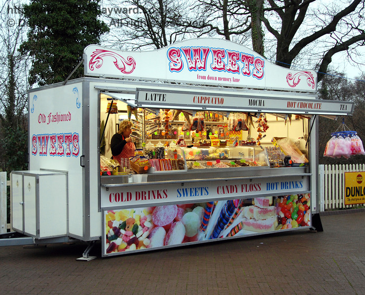 The popular sweet stall at Sheffield Park. 05.12.2009