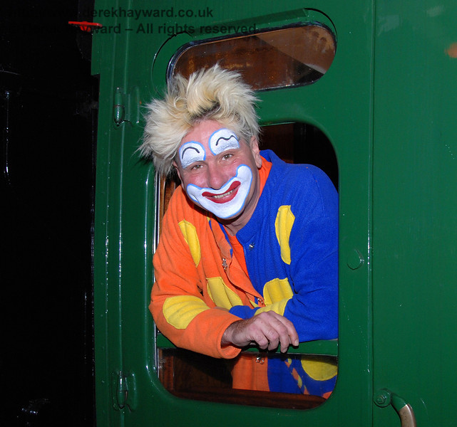 Brillo the clown at Kingscote. 13.12.2009