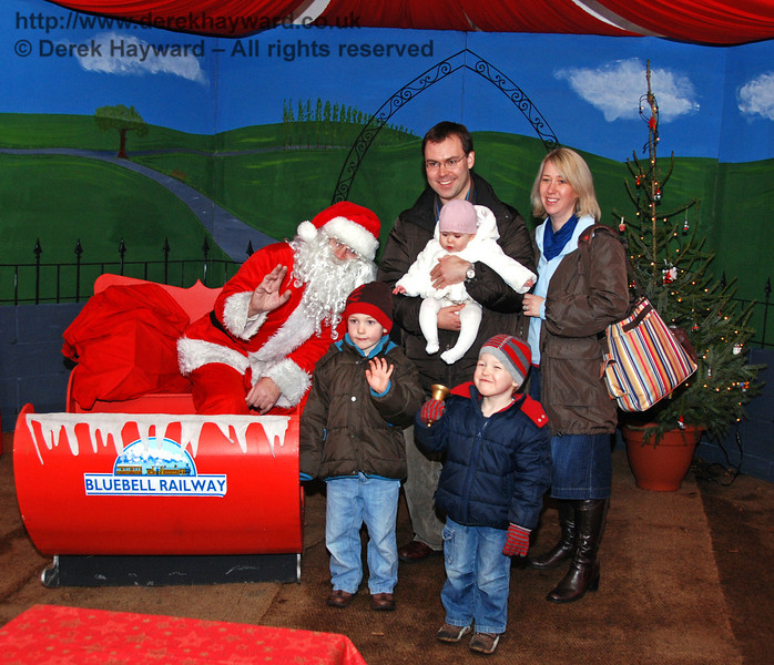 A scene from Santa's grotto at Kingscote. 13.12.2009