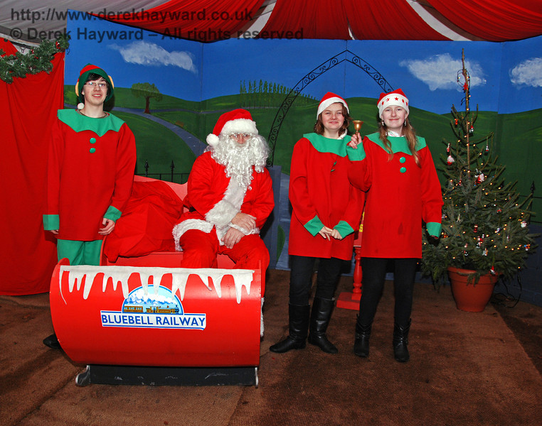 Santa and some of his helpers at Kingscote. 13.12.2009