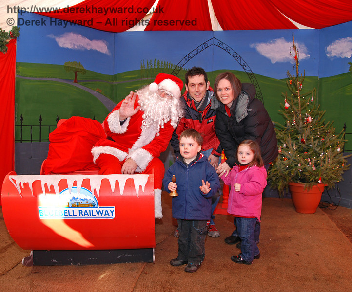 A scene from Santa's grotto at Kingscote. 06.12.2009