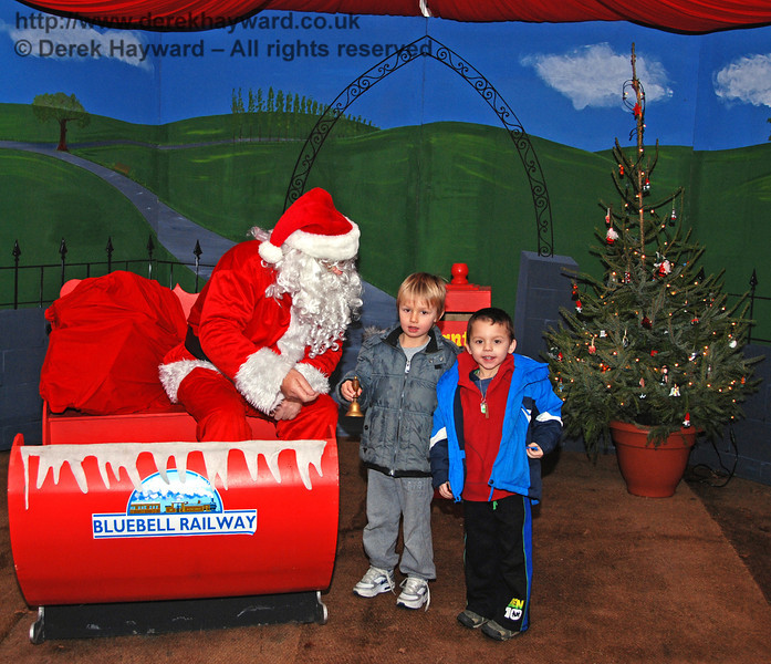 A scene from Santa's grotto at Kingscote. 05.12.2009
