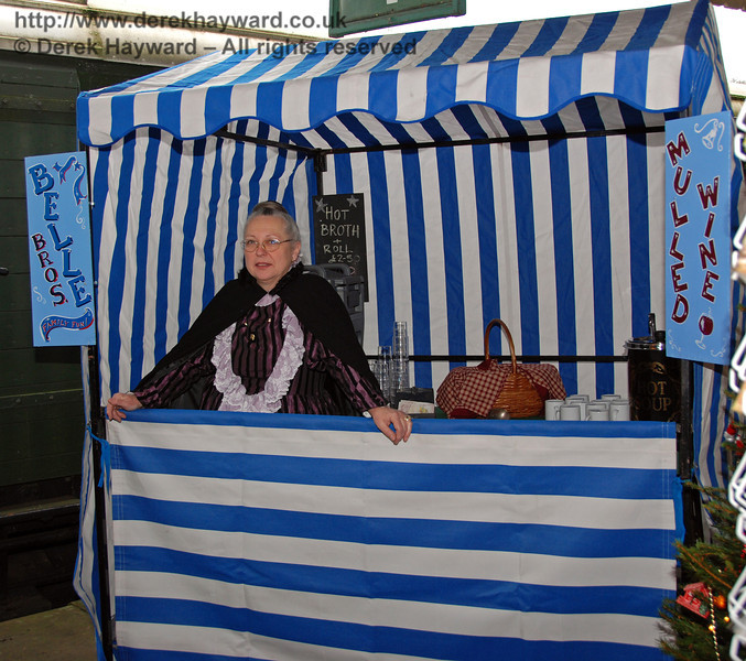 One of the stalls at Horsted Keynes. 20.12.2008