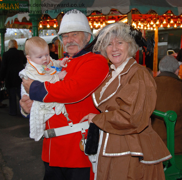 Big smiles at Horsted Keynes. 20.12.2008