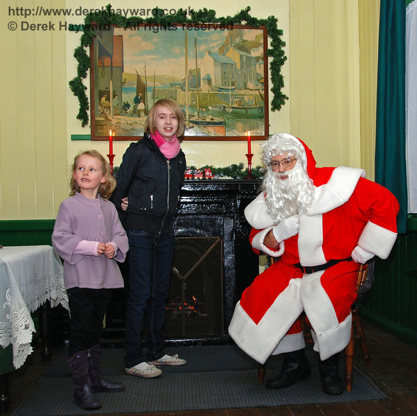 The Victorian Santa's grotto at Horsted Keynes. 20.12.2008