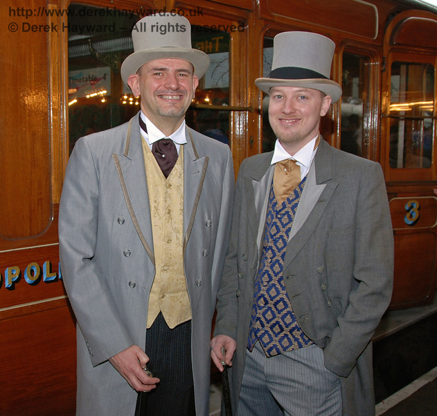 Two appropriately dressed gentlemen at Horsted Keynes. 20.12.2008