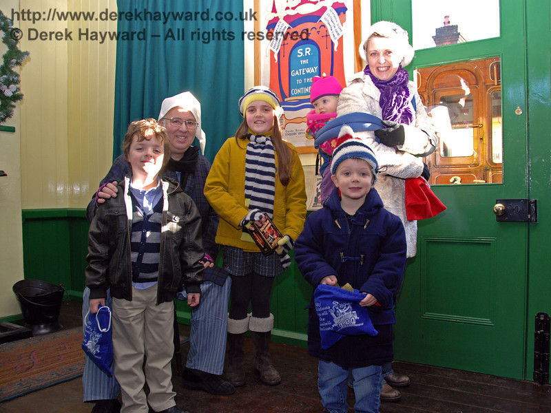 Scrooge with some of his visitors.  Horsted Keynes 02.01.2010