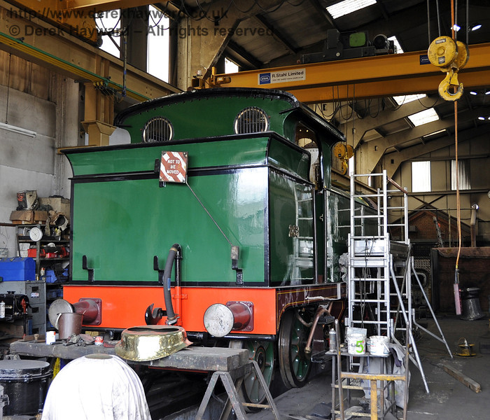 A rather restricted view of 263 in the Workshops at Sheffield Park.  06.04.2012  4370