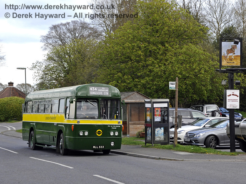 An RF at The Plough in Dormansland en route to Kingscote on Bus Running Day.  15.04.2012  4380