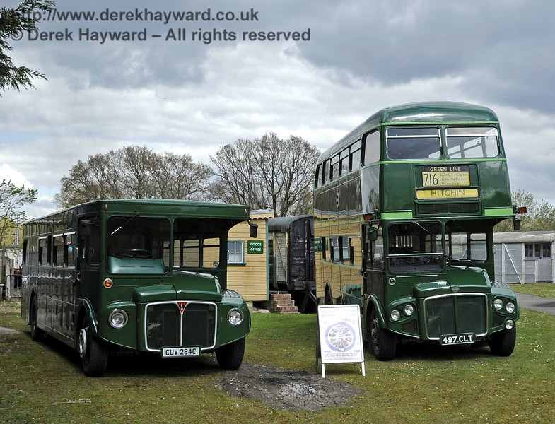 Buses at Kingscote on the Bus Running Day.  15.04.2012  4500