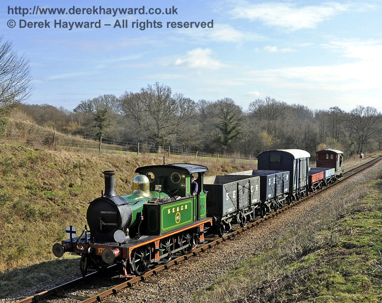 178 passes Medhurst Farm with a goods train.  10.03.2012  3713