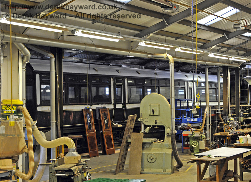 The Observation Car has now entered the Carriage and Wagon Workshops for refurbishment.  06.10.2013  9786