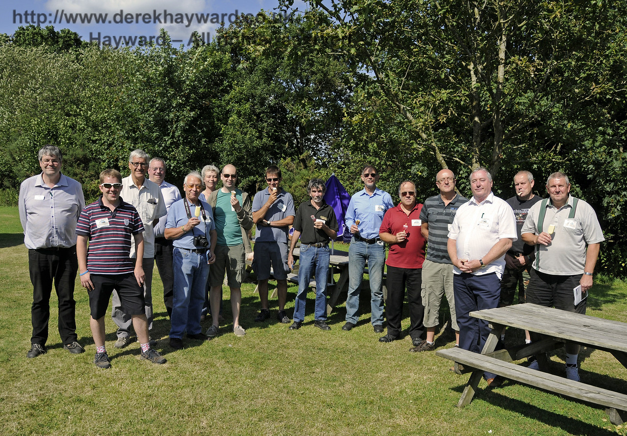 A group of potential Bluebell Volunteers were being shown various aspects of the railway, and, accompanied by David Chappell, paused at the Well House at Kingscote for an ice cream.   This area now also has the necessary consents to trade as in previous years.  03.08.2014  11413
