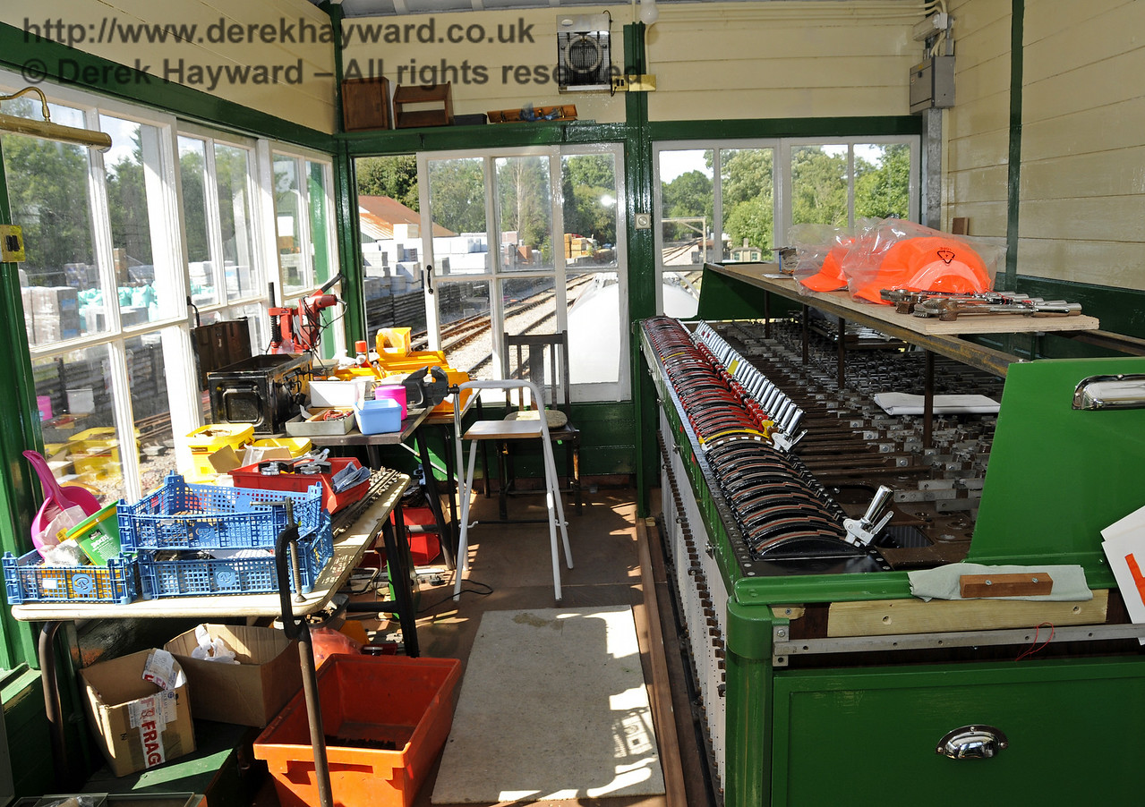 Work is continuing in Kingscote North Signal Box.  03.08.2014  11419