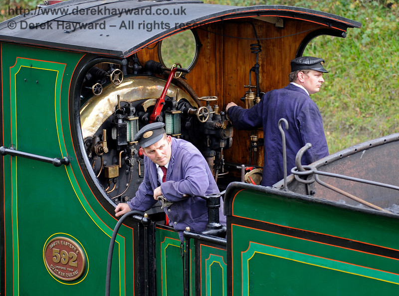 The crew on board 592 at Horsted Keynes.10.10.2015  12150