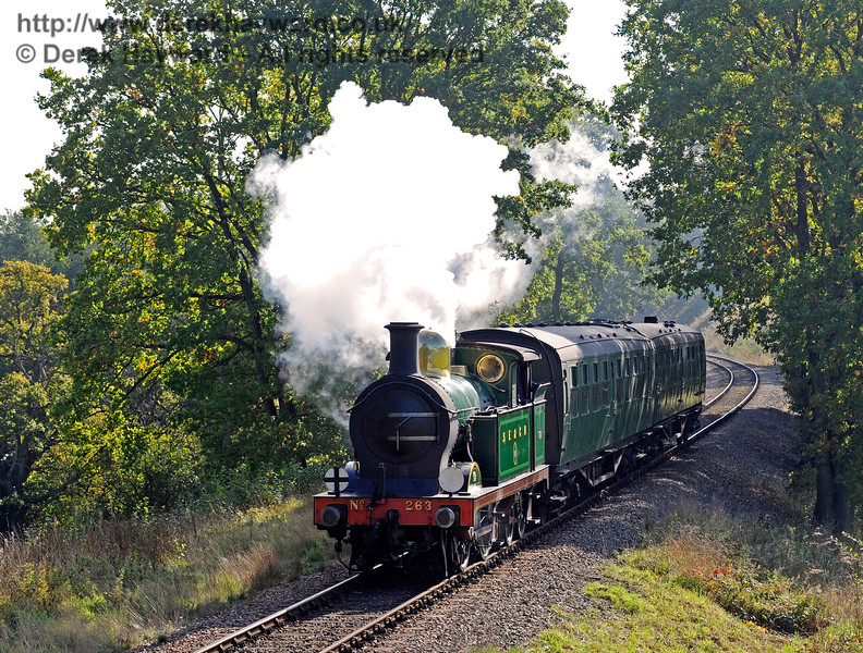 263 approaches Three Arch Bridge.  20.10.2015  12244