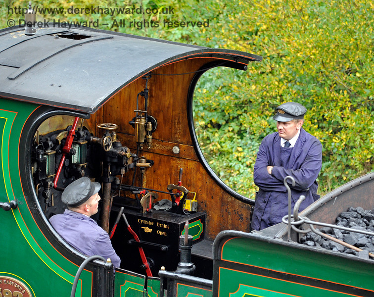 The crew on board 592 at Horsted Keynes.10.10.2015  12160