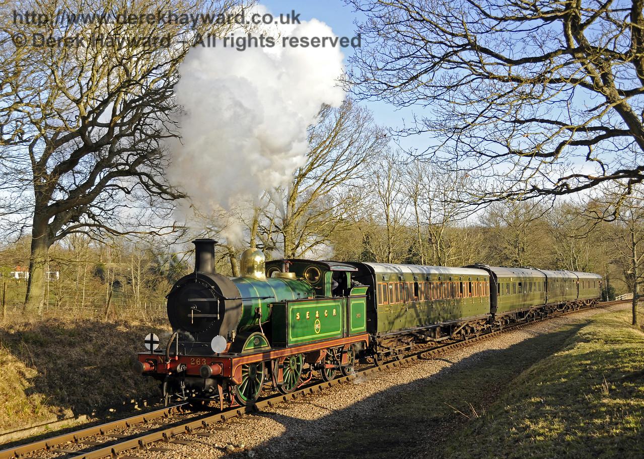 263 steams north past Vaux End.  07.03.2015  12043
