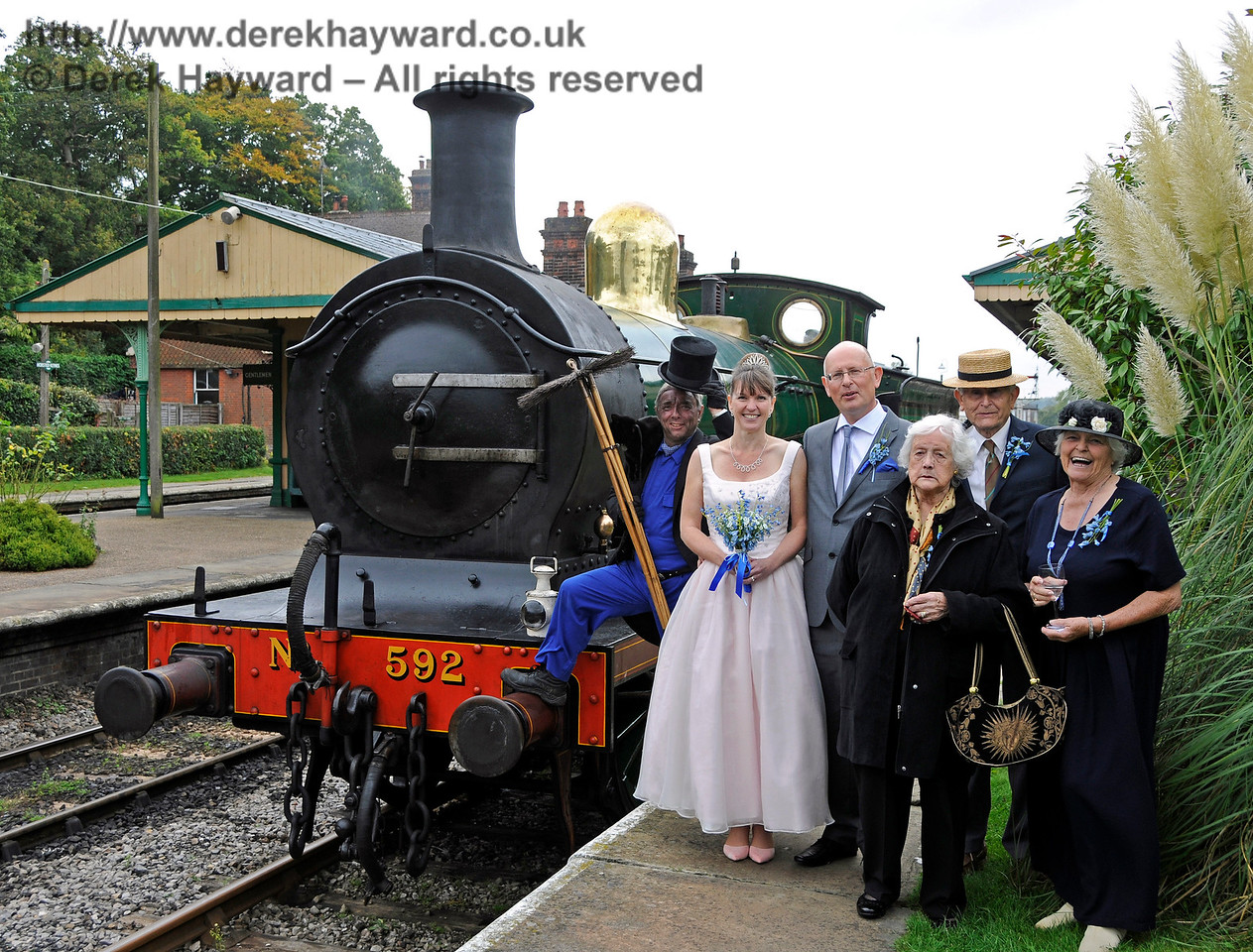 Mike and Miranda married at Horsted Keynes on 10.10.2015  (Picture of this private event used with the consent of the bride and groom).  13851