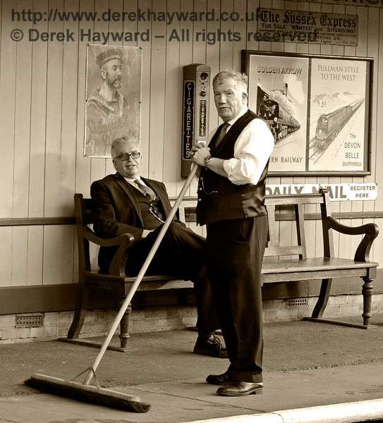 The end of the day at Horsted Keynes.  02.10.2016 14153