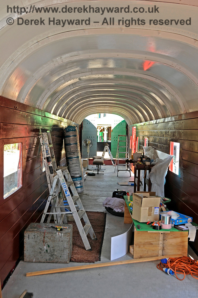 The interior of the Elephant Van at Horsted Keynes.  26.08.2016  16284