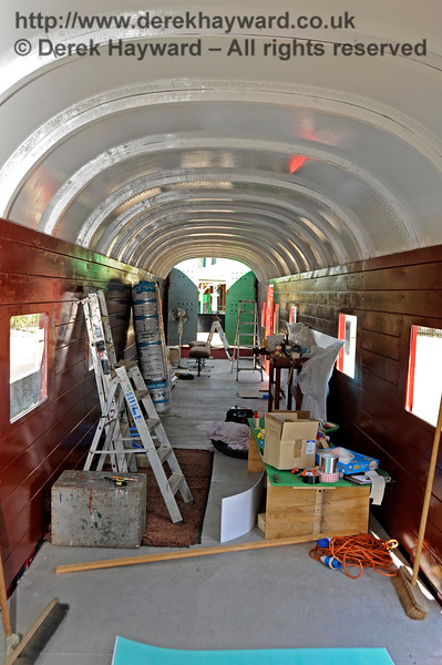 The interior of the Elephant Van at Horsted Keynes.  26.08.2016  16286