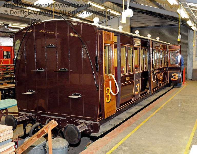 3188, nearly complete, in the Carriage and Wagon Works at Horsted Keynes.  30.04.2016  14973