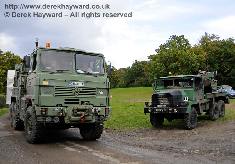 A display of heavy haul vehicles at Horsted Keynes.   16.10.2016  16466