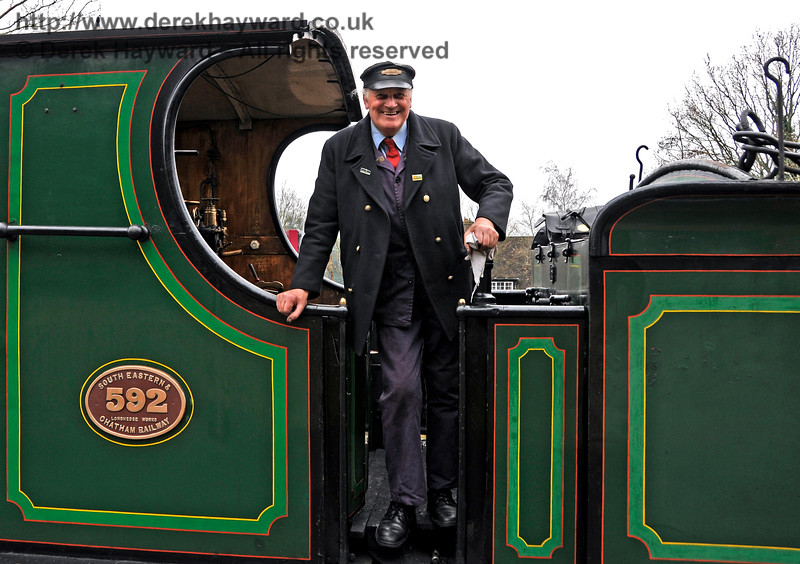 The late Colin Packham, caught at East Grinstead during the 2015 Santa season.  13.12.2015  14175