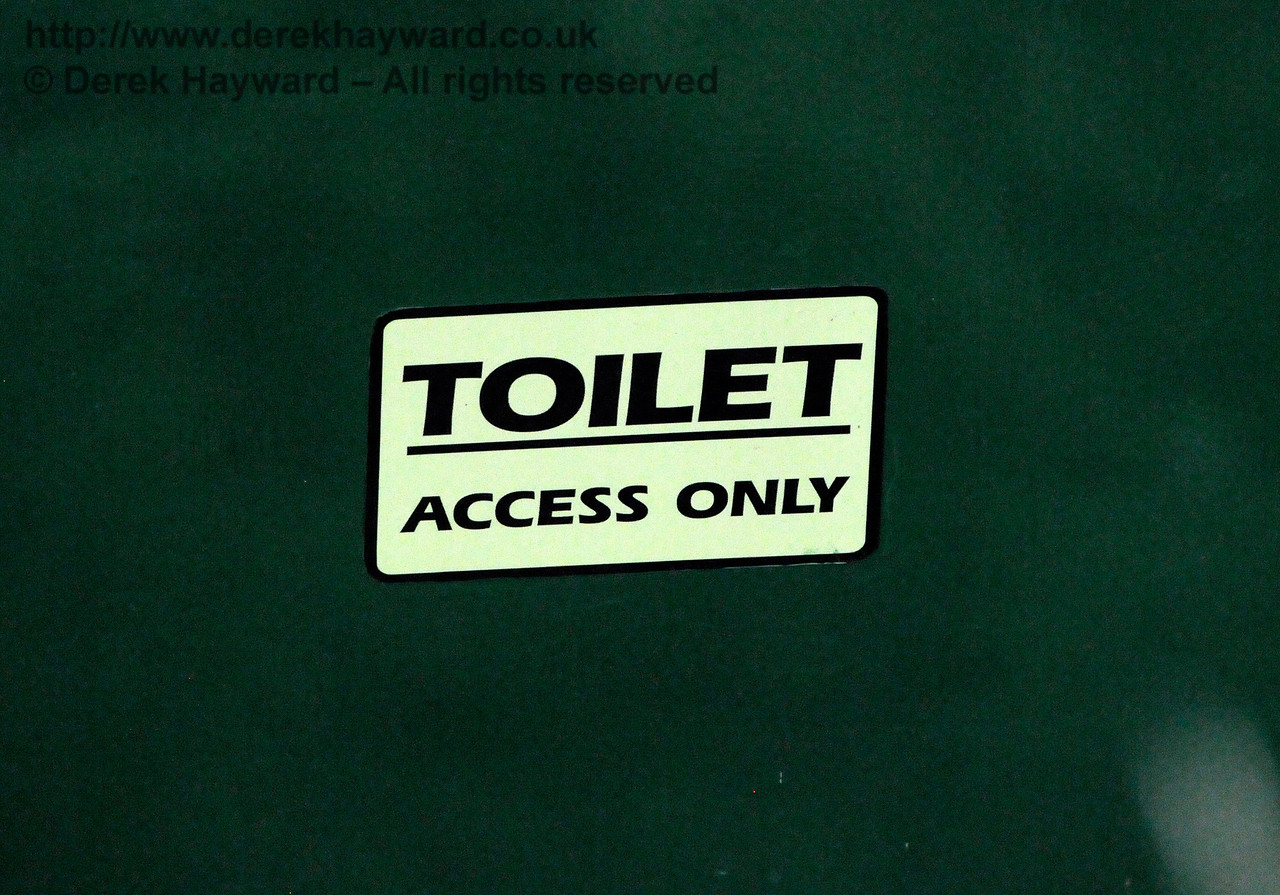 "The railway have provided a man-eating toilet for the lineside team.  You can ""Access"" it, but you never, ever, come out again... 06.08.2017 17592"