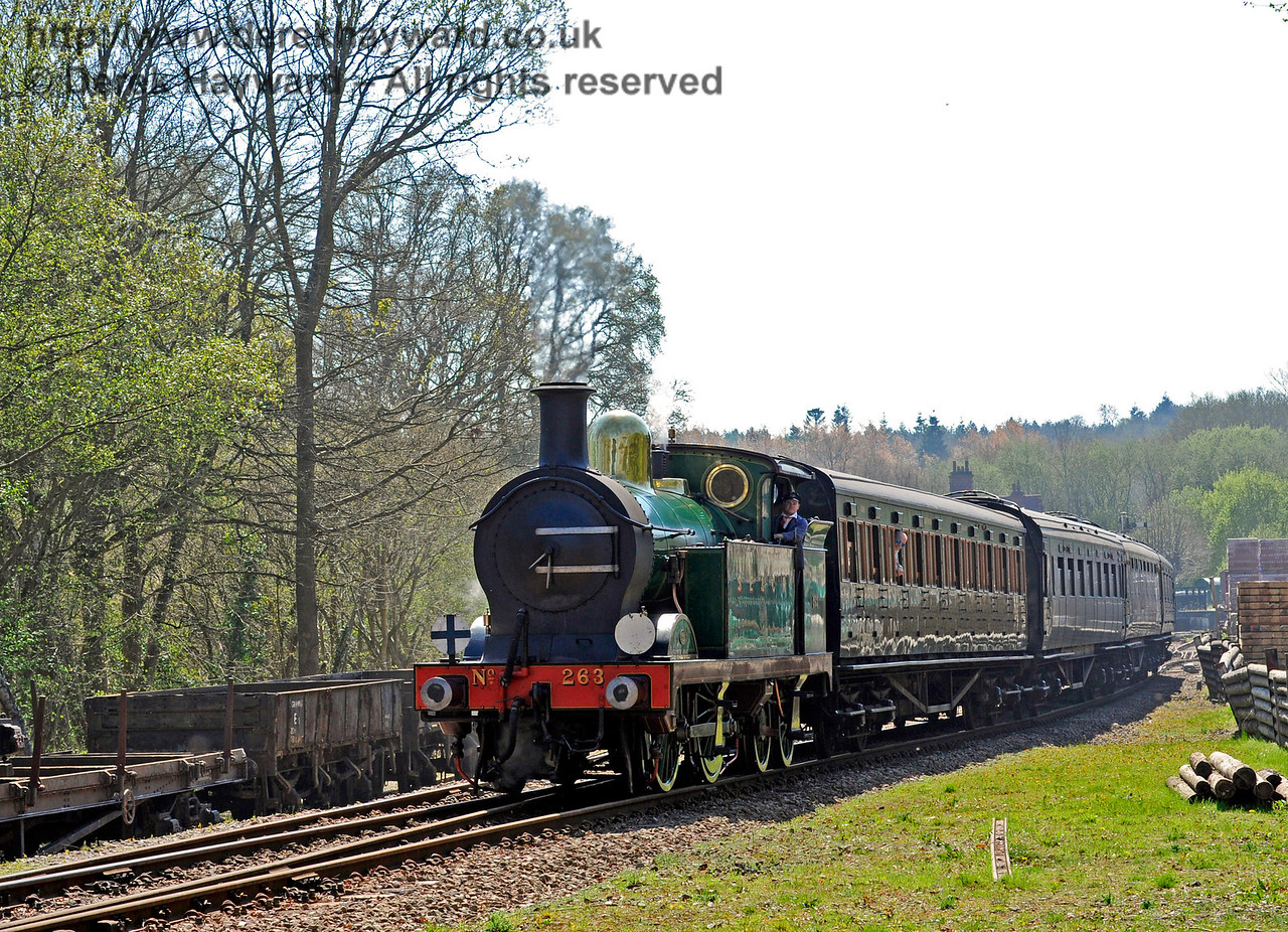 263 leaving Kingscote. 09.04.2017 14998 (Taken with permission)