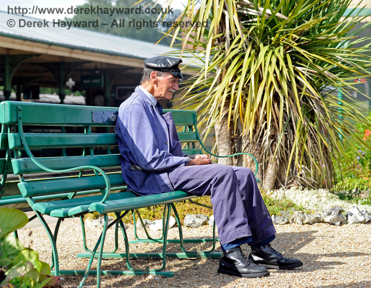 Clive Groome taking a break at Horsted Keynes. 06.08.2017 15893