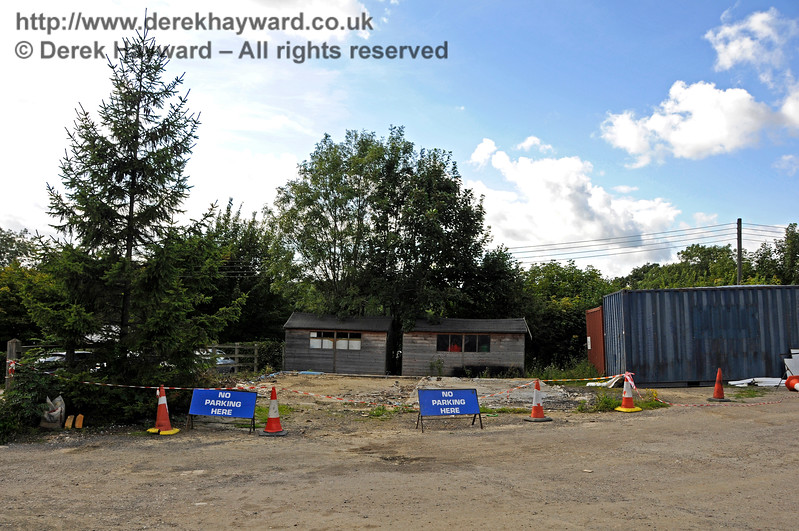The old Fire Station site at Horsted Keynes has recently been cleared.  Hopefully the unsightly containers are not remaining in the top field. 06.08.2017 17615