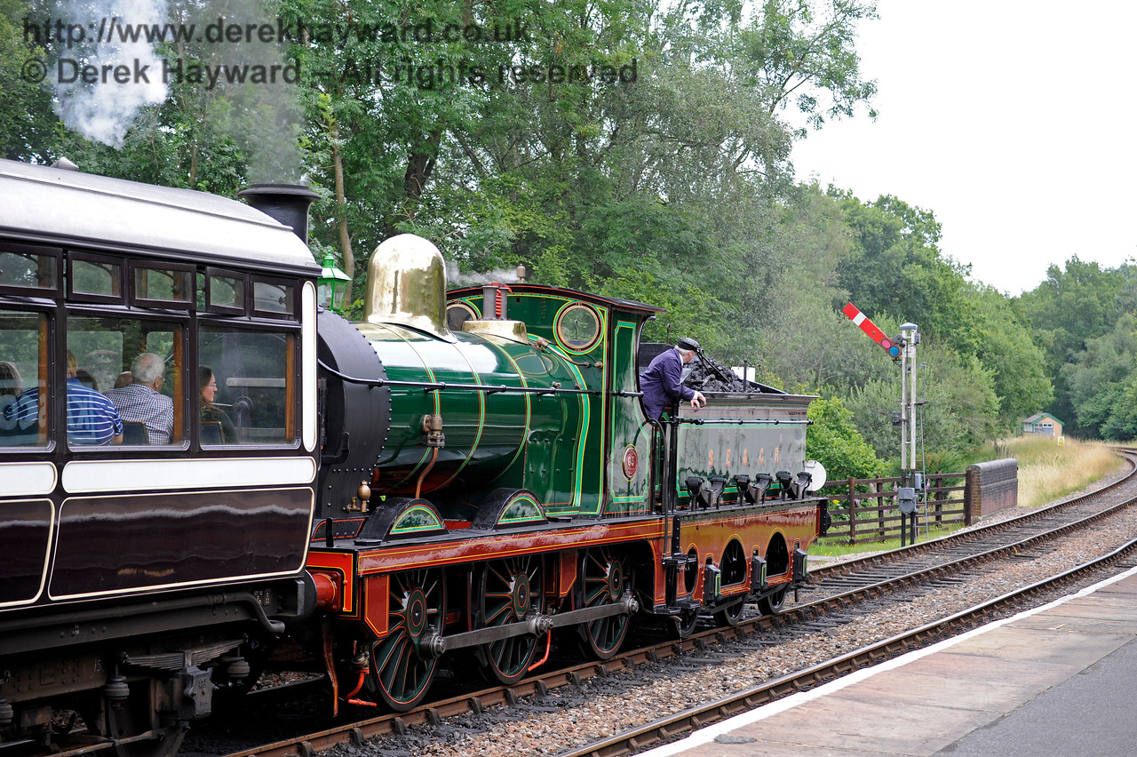 65 at Kingscote on it's first day of public service. 15.07.2017 15806