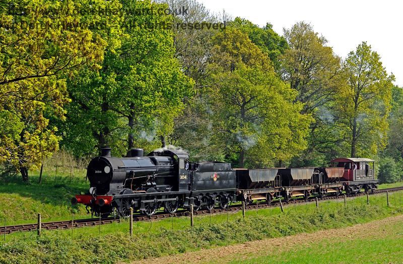 30541 wanders north from Sloop Bridge with an engineer's train. 06.05.2017 15065