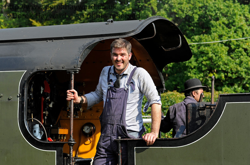 A member of the crew on board 847 at Horsted Keynes.  27.08.2017 16038