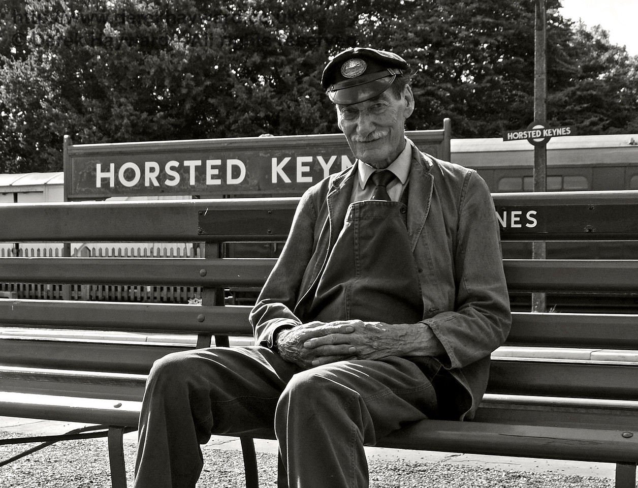 Clive Groome taking a break at Horsted Keynes. 06.08.2017 17620
