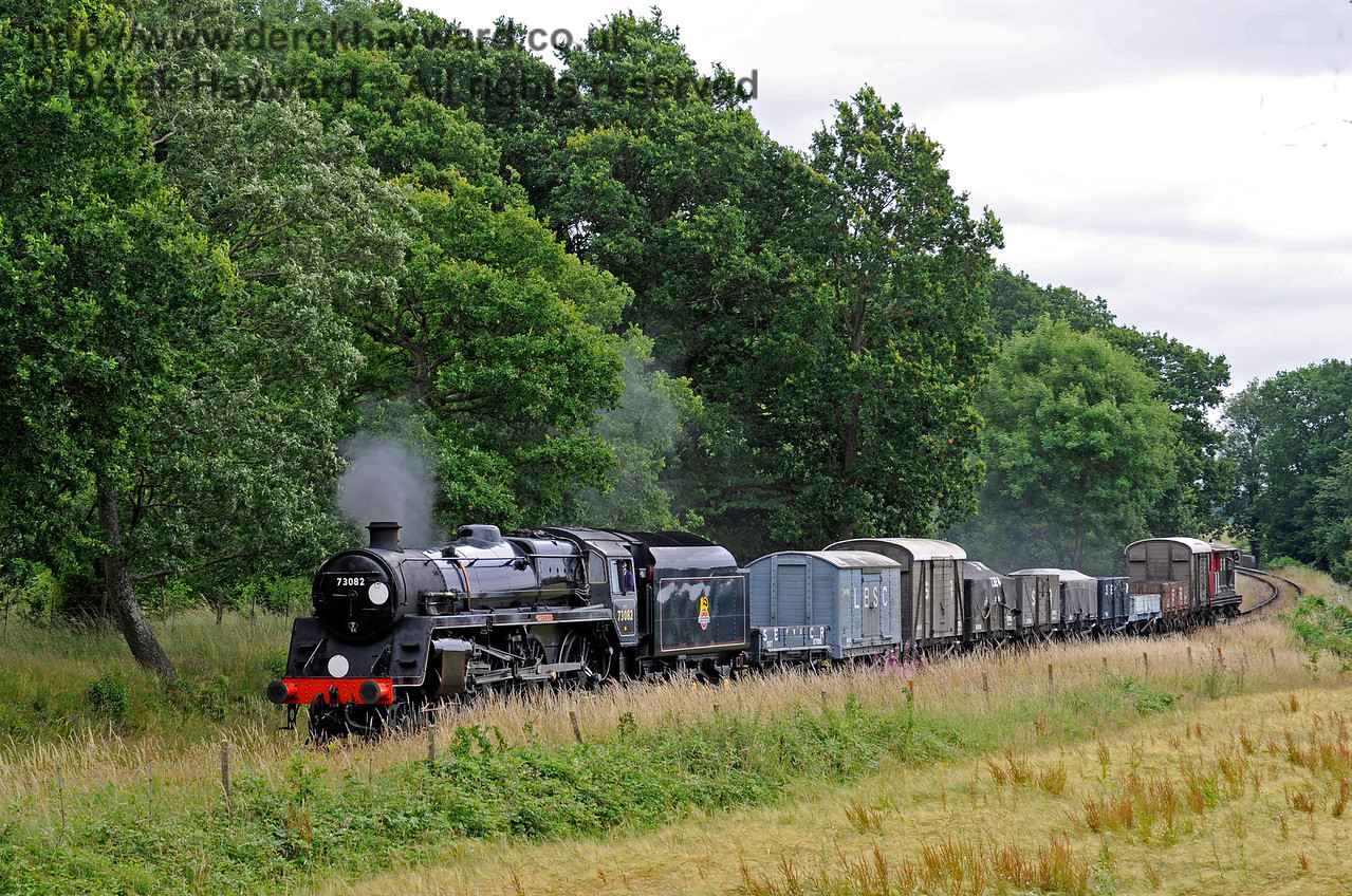 73082 North of Sloop Bridge with a goods train. 15.07.2017 15784