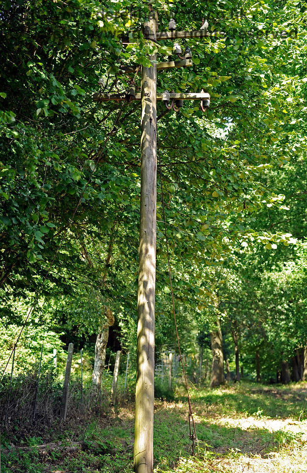 When BR wrecked the line leading to Kingscote they demolished everything, but for some reason left one lonely telegraph pole.  See if you can spot it from the train. 06.08.2017 15871