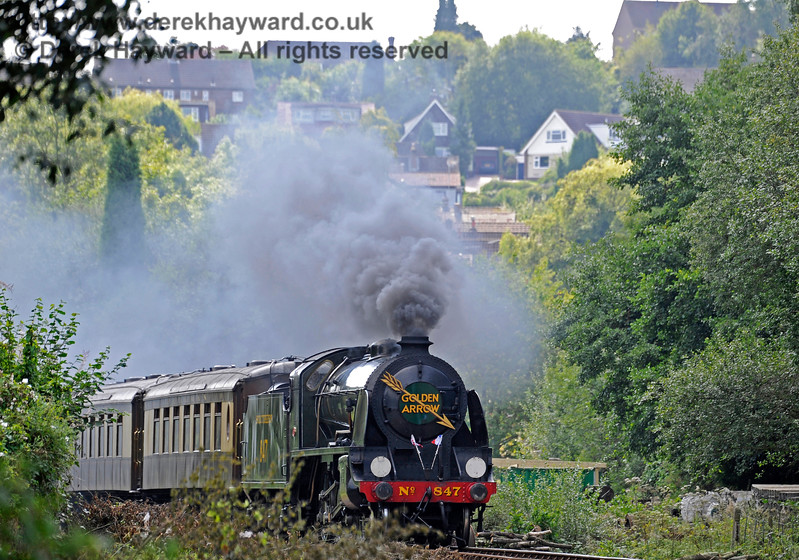 847 steaming north from West Hoathly. 27.08.2017 15999