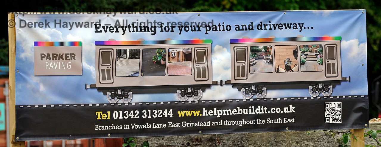Parkers at Kingscote appear to have embraced railway advertising.  11.06.2017 15580