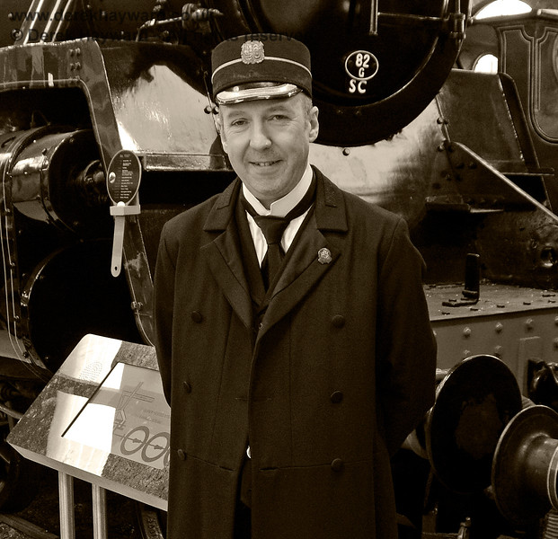 "Sheffield Park Station Master Andrew Ellis pictured in ""Steam Works!"" 25.05.2019 19173/2"