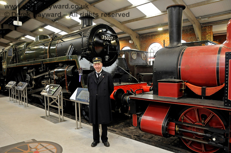 "Sheffield Park Station Master Andrew Ellis pictured in ""Steam Works!"" 25.05.2019 19172"