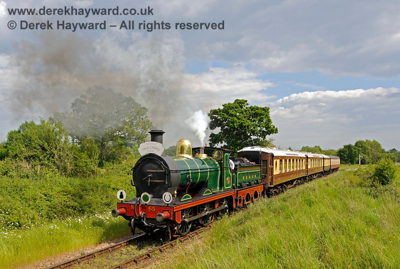 65 approaching Ketches Halt with a Wedding Special. 25.05.2019 19177