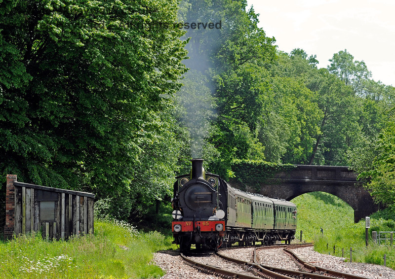 65 steams north from Leamland Bridge. 01.06.2019 16994