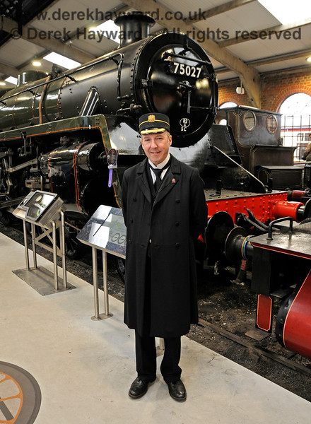 "Sheffield Park Station Master Andrew Ellis pictured in ""Steam Works!"" 25.05.2019 19173"